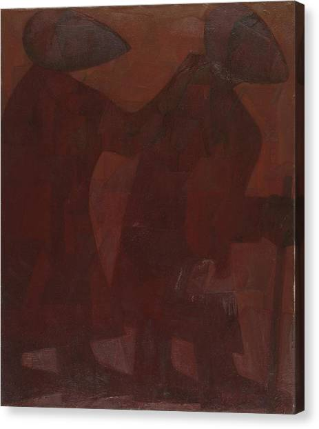 American Jewish Artists Canvas Print - The Blind Men by Israel Tsvaygenbaum