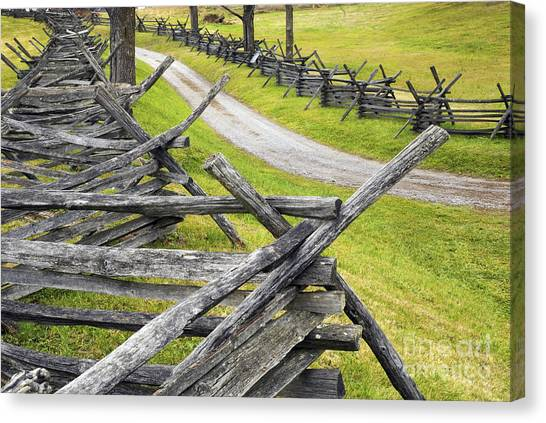 The Bloody Lane At Antietam Canvas Print