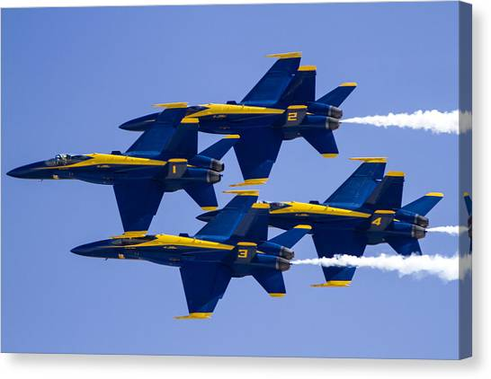 The Blue Angels In Action 1 Canvas Print