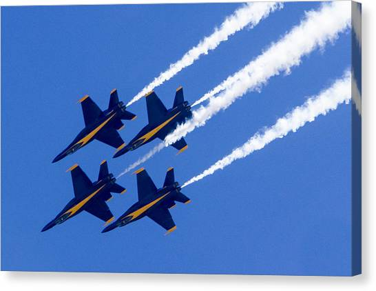 The Blue Angels In Action 2 Canvas Print