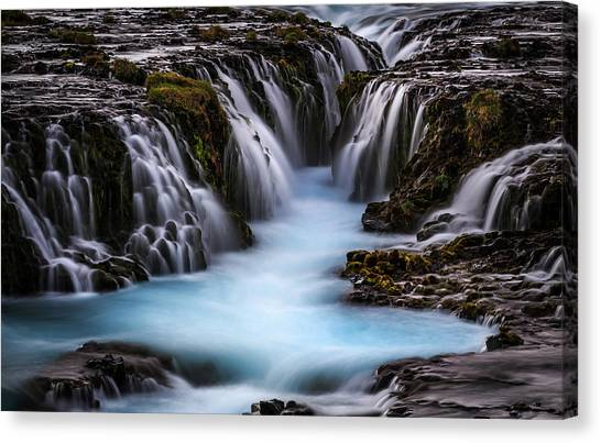 Waterfalls Canvas Print - The Blue Beauty by Sus Bogaerts