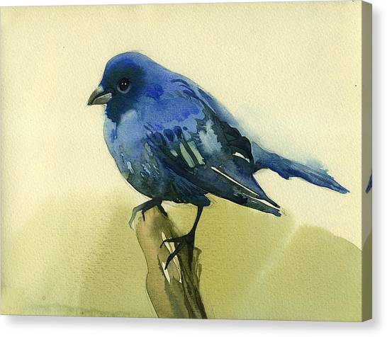 The Blue Birdie Canvas Print by Tatiana Zubareva