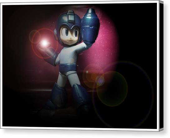 Mega Man Canvas Print - The Blue Bomber by Christopher Foote