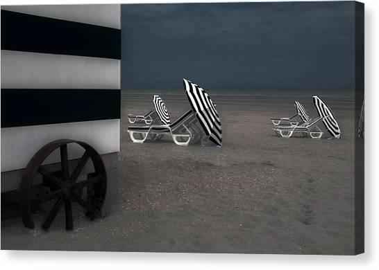 Beach Cabin Canvas Print - The Blue Cabin... by Gilbert Claes