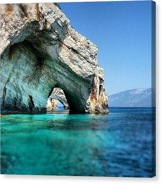 Ford Canvas Print - The Blue Caves Of Zakynthos #zakynthos by Alistair Ford