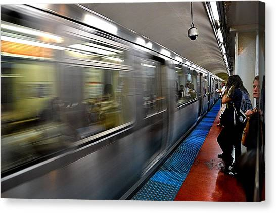 The Blue Line Canvas Print