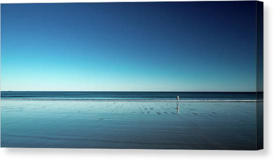 New Hampshire Canvas Print - The Blues by Harmeet Marwaha