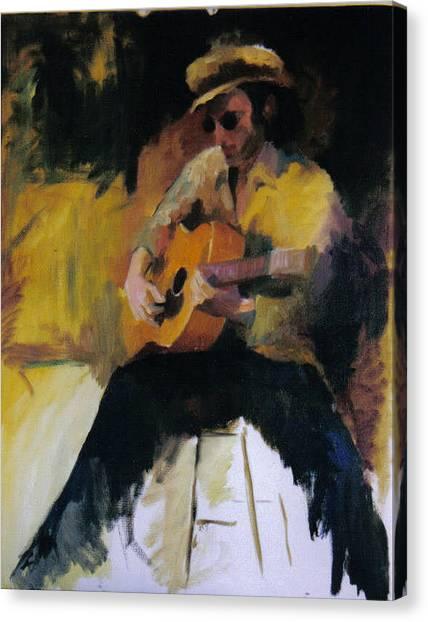 The Blues Man Canvas Print by John L Campbell