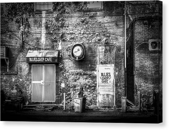 Drain Pipe Canvas Print - The Blues Ship Cafe by Marvin Spates
