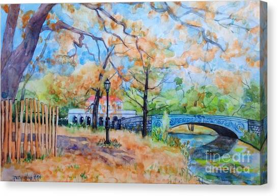 The Boat House And Lullwater Bridge Canvas Print