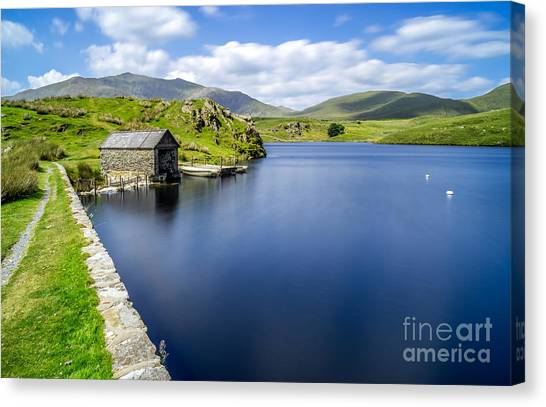 Snowdon Canvas Print - The Boathouse by Adrian Evans