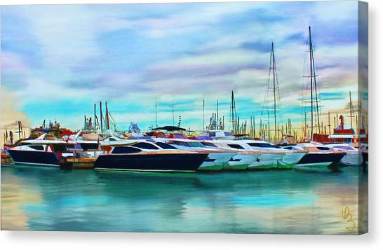 The Boats Of Malaga Spain Canvas Print