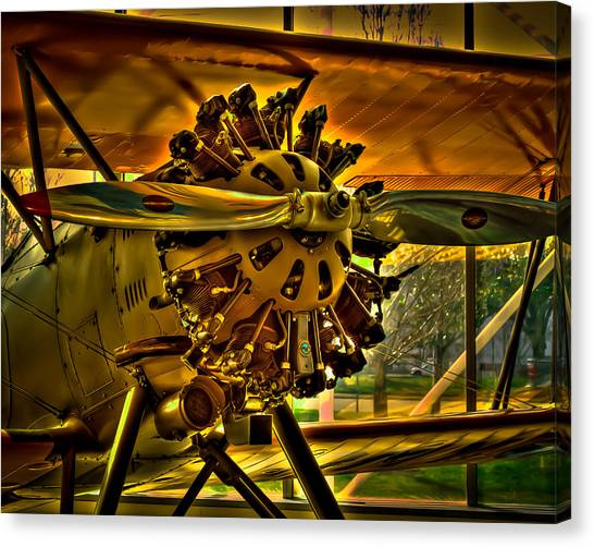Prop Planes Canvas Print - The Boeing Model 100 by David Patterson