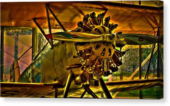 Prop Planes Canvas Print - The Boeing Model 100 P-12 by David Patterson