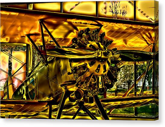 Prop Planes Canvas Print - The Boeing Model 100 P-12 F4b by David Patterson