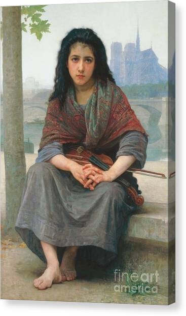 Stringed Instruments Canvas Print - The Bohemian by William Adolphe Bouguereau