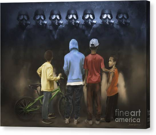 Canvas Print featuring the digital art The Boogie Men by Dwayne Glapion