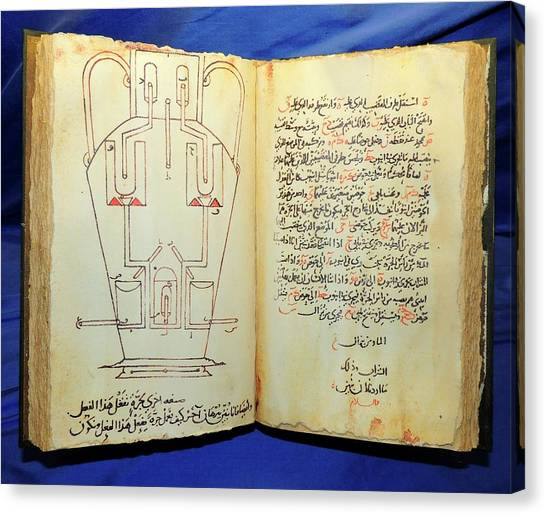 Baghdad Canvas Print - The Book Of Ingenious Devices by Universal History Archive/uig