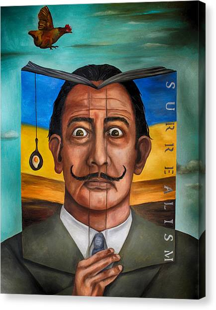 Salvador Dali Canvas Print - The Book Of Surrealism Edit 2 by Leah Saulnier The Painting Maniac