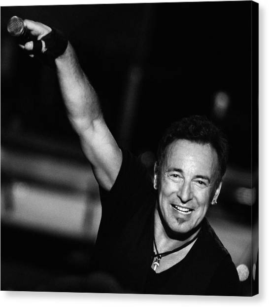 Bruce Springsteen Canvas Print - The Boss 15 by Rafa Rivas
