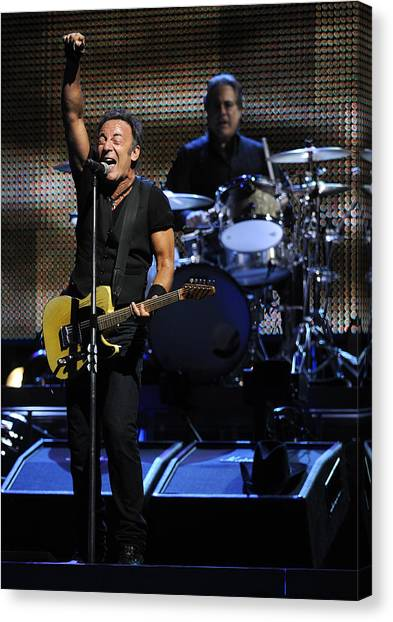 Bruce Springsteen Canvas Print - The Boss 29 by Rafa Rivas