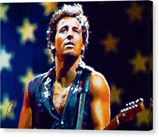 Bruce Springsteen Canvas Print - The Boss by John Travisano