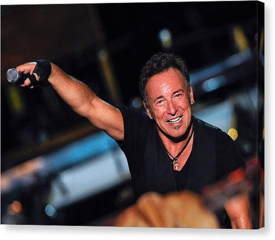 Bruce Springsteen Canvas Print - The Boss by Rafa Rivas