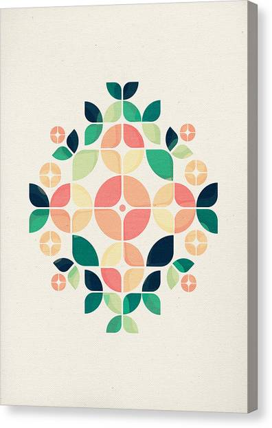 Pattern Canvas Print - The Bouquet by VessDSign