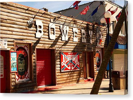 The Bowery Myrtle Beach Canvas Print
