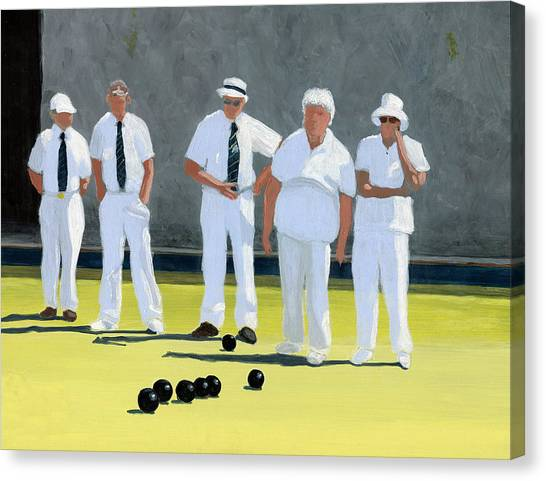 The Bowling Party Canvas Print
