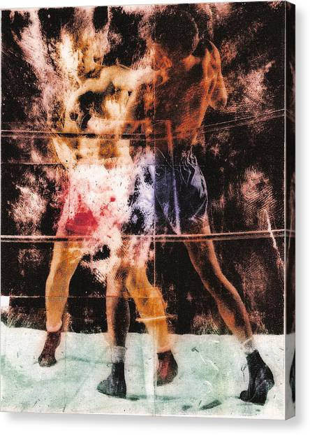 Joe Frazier Canvas Print - The Boxer by Angus Carter