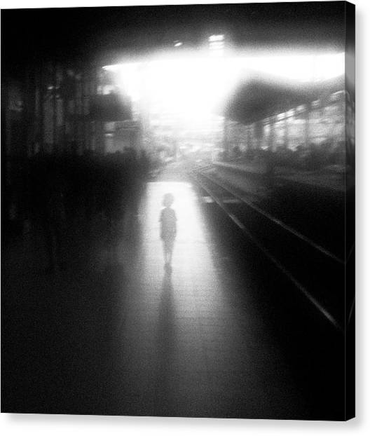 Railroads Canvas Print - The Boy From Nowhere by Hengki Lee