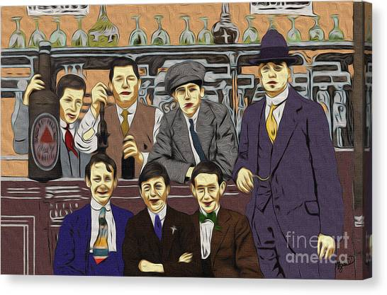 The Boys At Blackpool Canvas Print