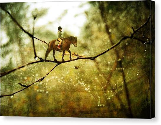 The Brave Rider Canvas Print