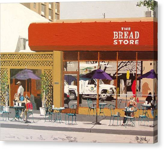 The Bread Store In Midtown Canvas Print by Paul Guyer