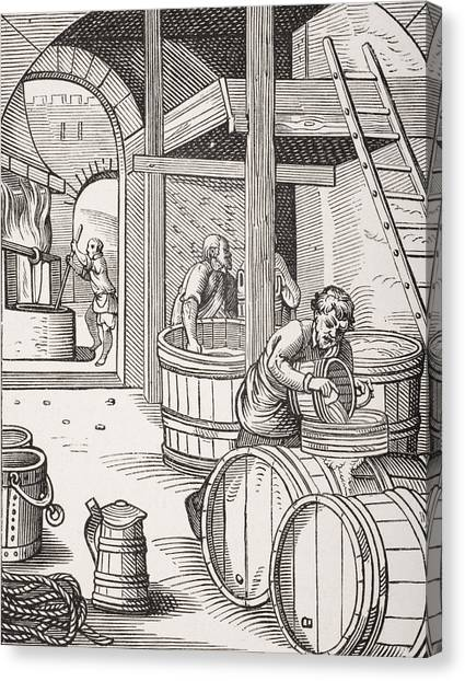 Craft Beer Canvas Print - The Brewer by French School