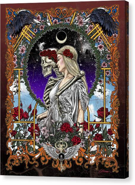 Grateful Dead Canvas Print - The Bride by Gary Kroman