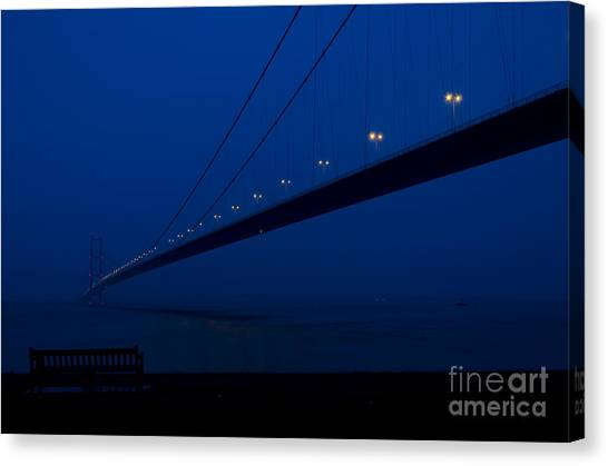 Stamford Bridge Canvas Print - The Bridge And The Bench by Steev Stamford