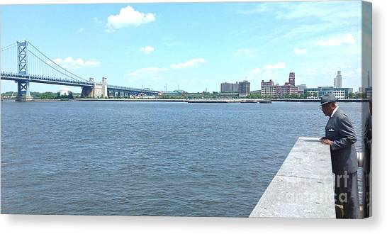 The Bridge And The River Canvas Print