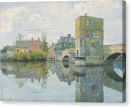 St Ives Canvas Print - The Bridge At Saint Ives by William Fraser Garden