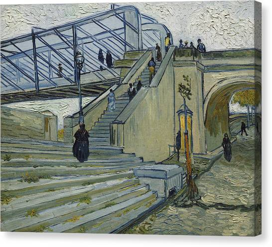 Southern France Canvas Print - The Bridge At Trinquetaille by Vincent van Gogh