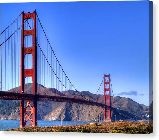 Marin County Canvas Print - The Bridge by Bill Gallagher
