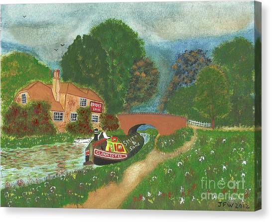 The Bridge Inn Canvas Print