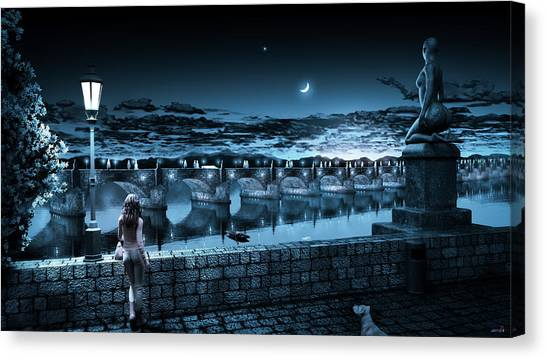 The Bridge Of Yesterday Canvas Print