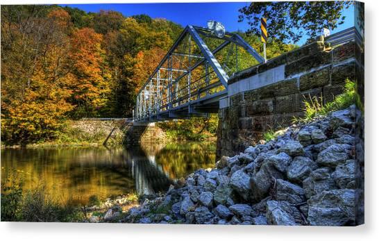 The Bridge Over Beaver Creek Canvas Print