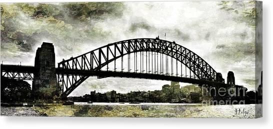 The Bridge Spattled Canvas Print