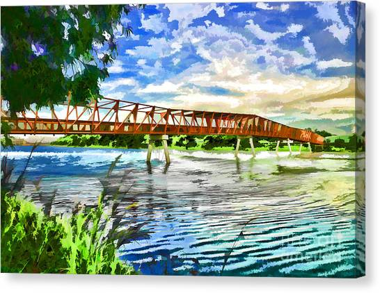 Canvas Print featuring the photograph The Bridge by Yew Kwang