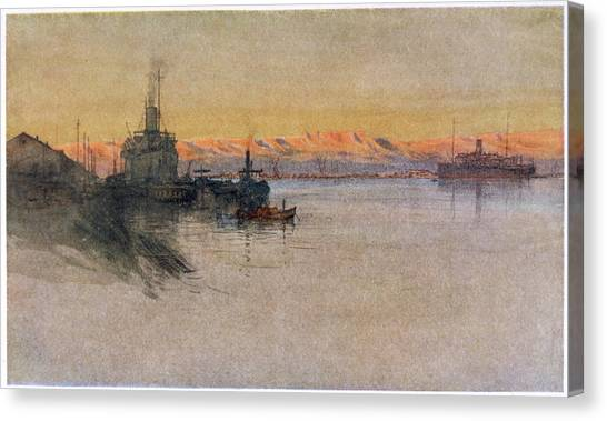 The British Transport Ships  'erma' Canvas Print by Mary Evans Picture Library