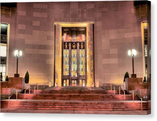 The Brooklyn Public Library Canvas Print by JC Findley