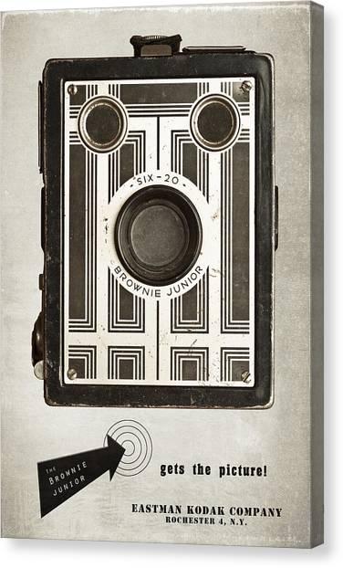 Art Deco Canvas Print - The Brownie Junior Six-20 Camera by Tom Mc Nemar